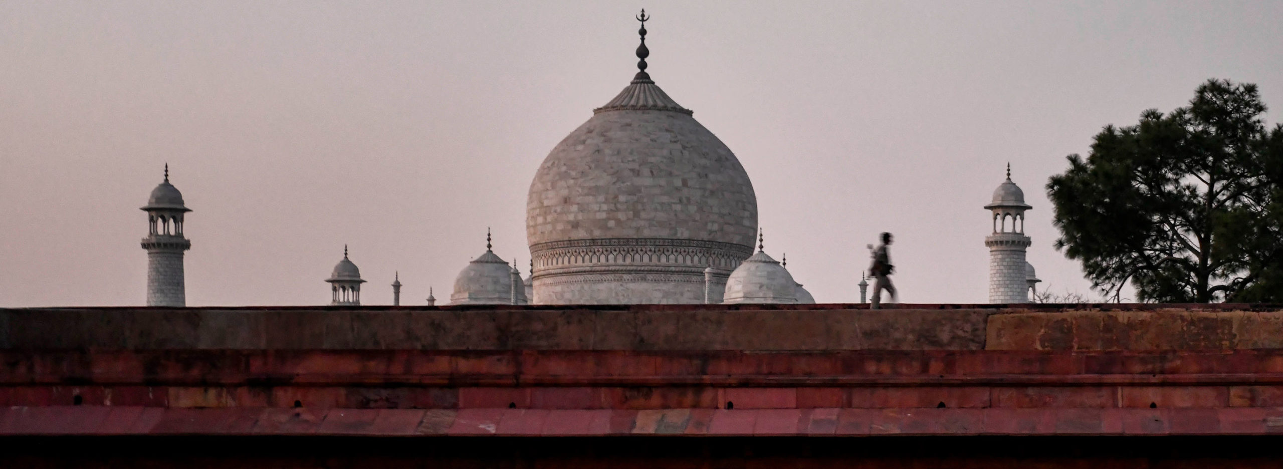 The Taj Mahal during the lockdown